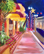 Evening painting by the Colony Hotel in Delray Beach