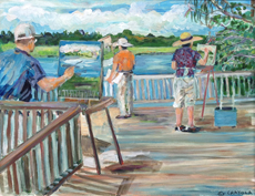 Artists at Loxahatchee 2014 by Carolyn Crayola