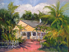 Yellow Cottage at Delray by Kerry Eriksen