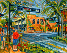 Artists on Atlantic Avenue by Pineapple Grove