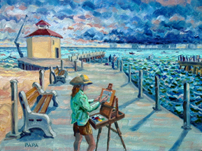 Artist at the Boynton Inlet