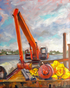 Construction at Boynton Inlet Park 2014 by Elfrida Schragen
