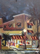 Delray Night Painting of the Colony Hotel