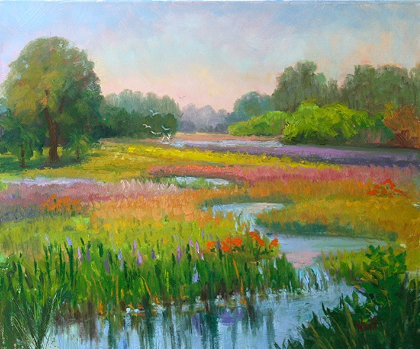 Lavender Fields at Loxahatchee by Sheila Wolff